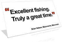 Excellent fishing - a great time white