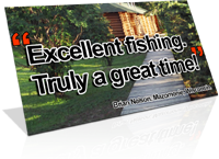 Excellent fishing - a great time cabin