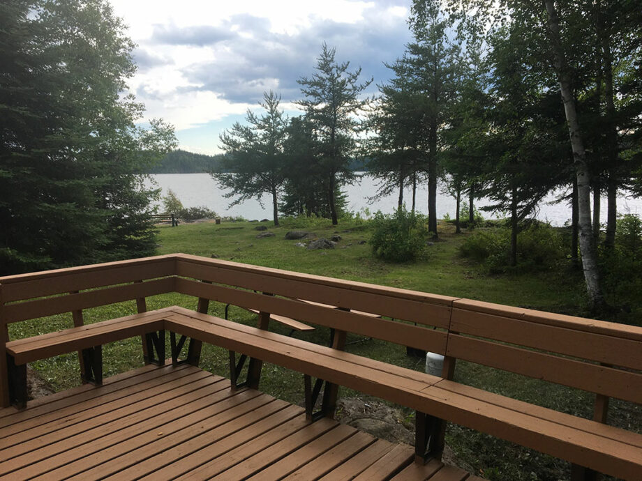 Sumach Lake Outpost Deck with Amazing View