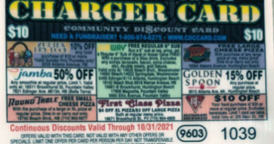 2021 Charger Card Fundraiser