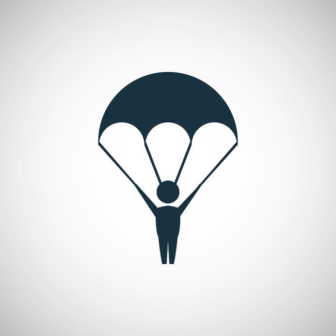 parachutist icon