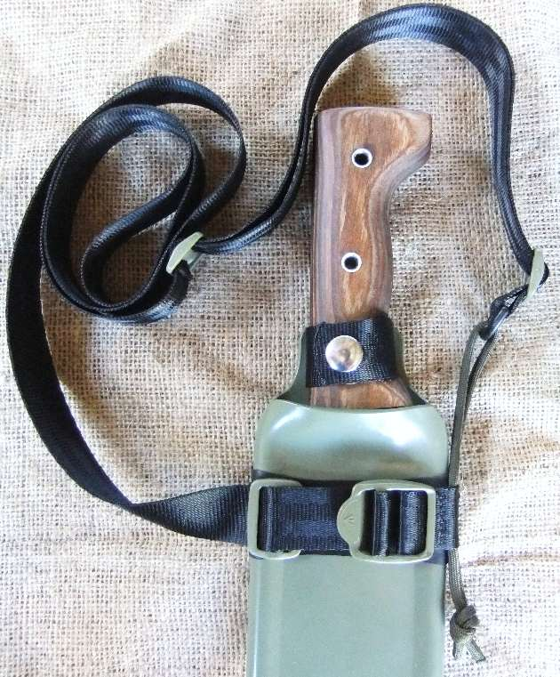 Machete Shop display Backpack Sheath with a Shoulder Carry Rig