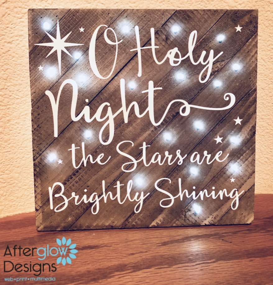 Oh Holy Night Light-Up Christmas Signs