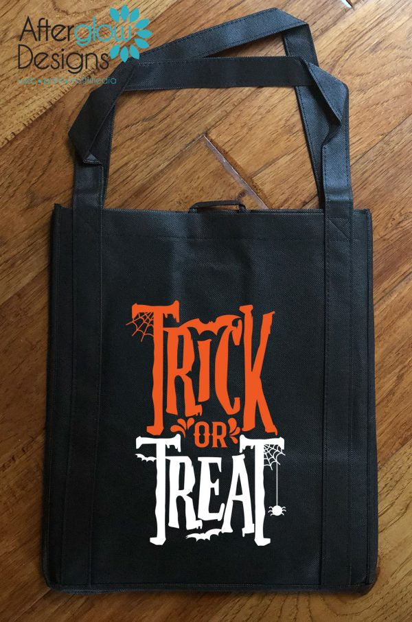 "Trick or Treat Bag - Glow in the Dark ""Trick or Treat"""