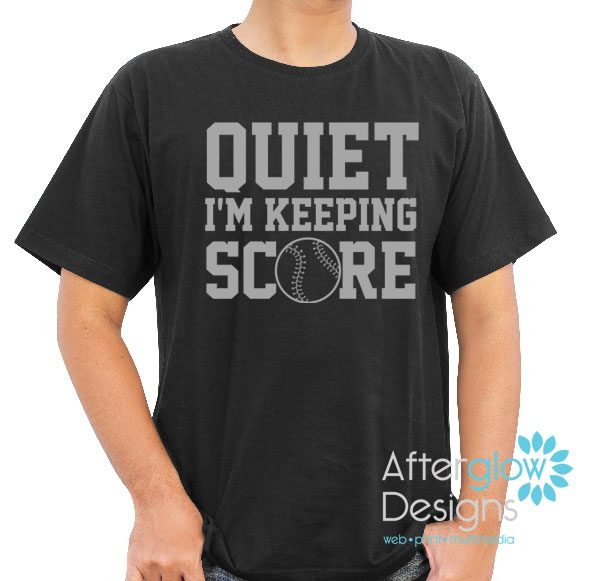 Quiet I'm Keeping Score Gildan Black Tshirt