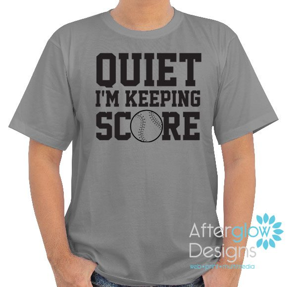 Quiet I'm Keeping Score Gildan Gray Tshirt