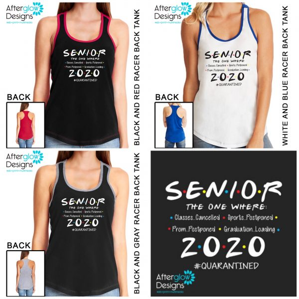 """Senior 2020 - The One Where"" on Tank Collage"