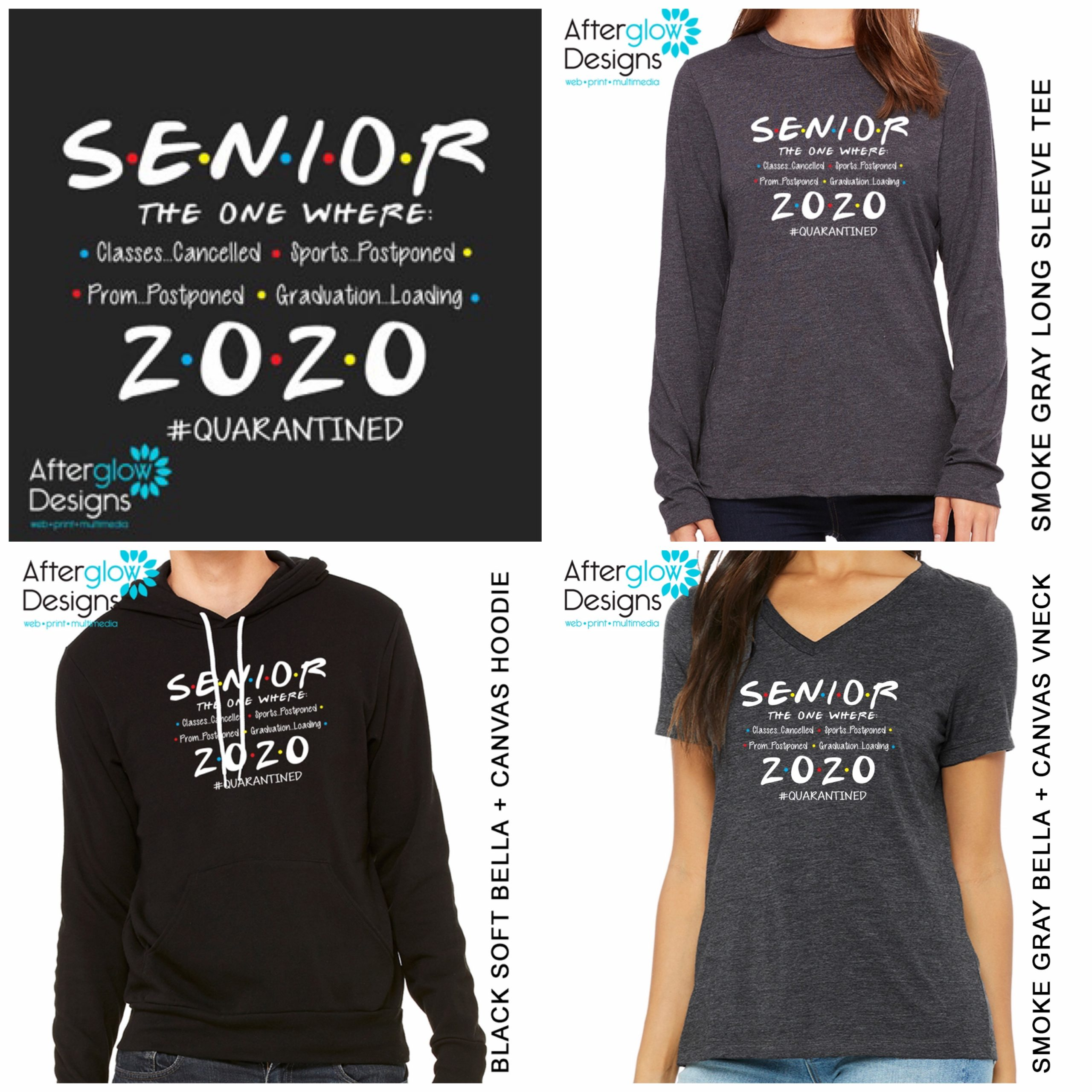 """Senior 2020 - The One Where"" on Tees Collage"