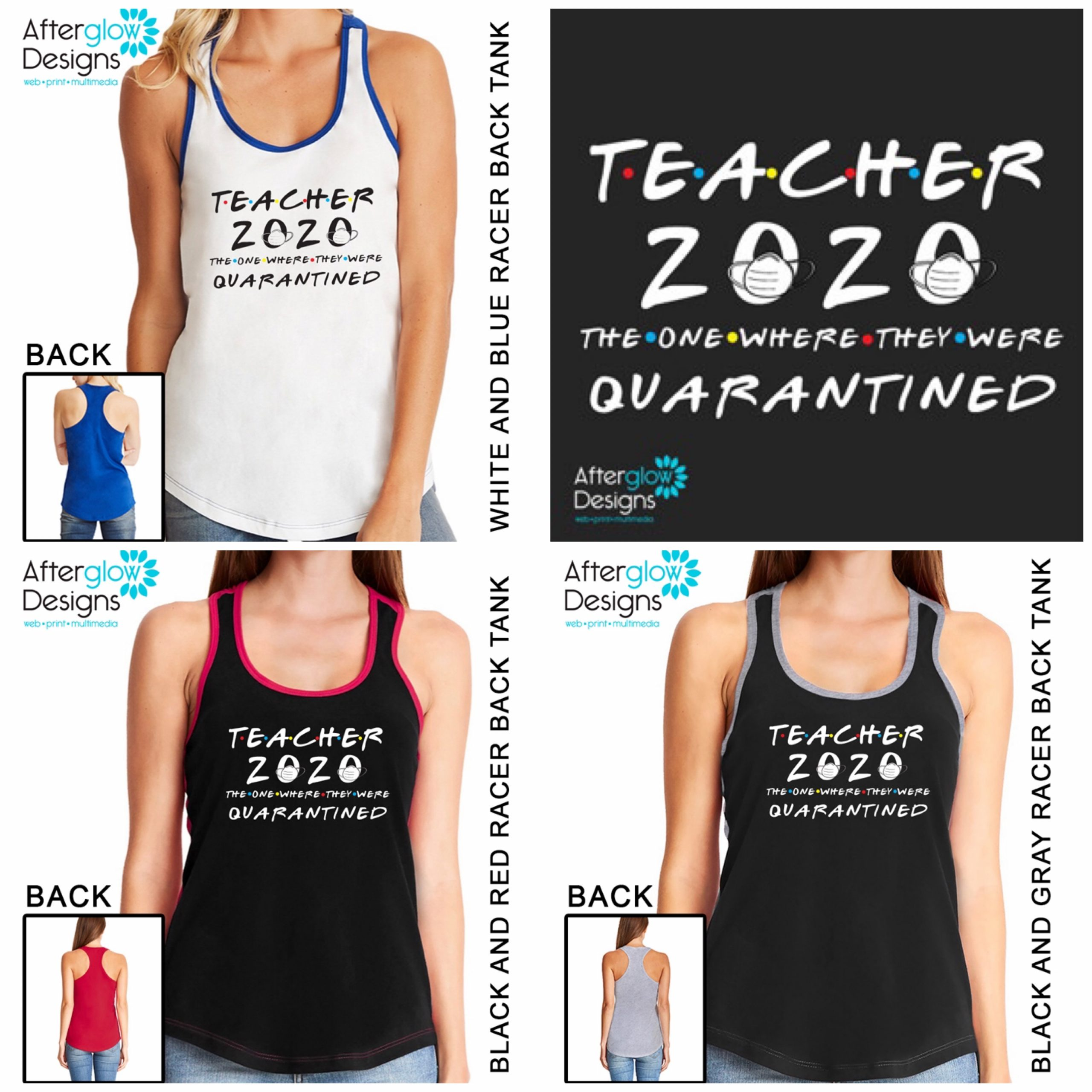 """""""Teacher 2020 - The One Where They Were Quarantined"""" Tanks"""