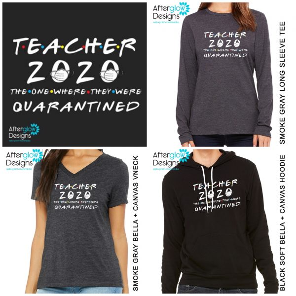 """""""Teacher 2020 - The One Where They Were Quarantined"""" Tops"""