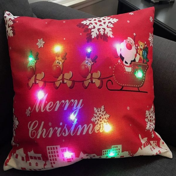 Santa Sleigh LED Pillow by Ultimate Innovations