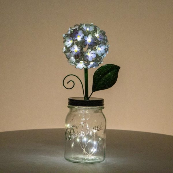 LED Purple Hydrangea by ShopDePalma