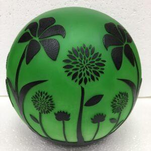 Floral Flickering Gazing Ball
