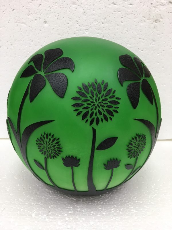 Floral Flickering Gazing Ball