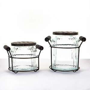 ShopDePalma Set of 2 Glass Vases