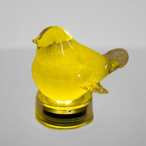 Ultimate Innovations Glass Light Up Bird Yellow