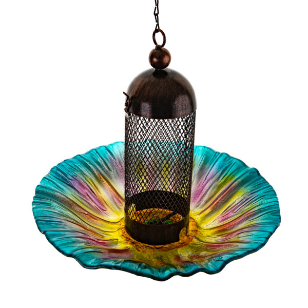 Ultimate Innovations Glass and Metal Bird Feeder Multi