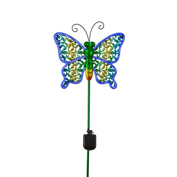 Shop DePalma Neon Blue Butterfly Stake