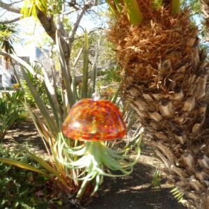 Set of 2 Glass Jellyfish with Faux Plant by Ultimate Innovations