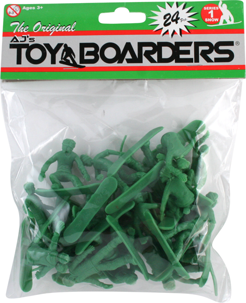 TOY BOARDERS SERIES I 24pc (SNOW) FIGURES