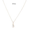 Teardrop-Pearl-on-Gold-Chain-White