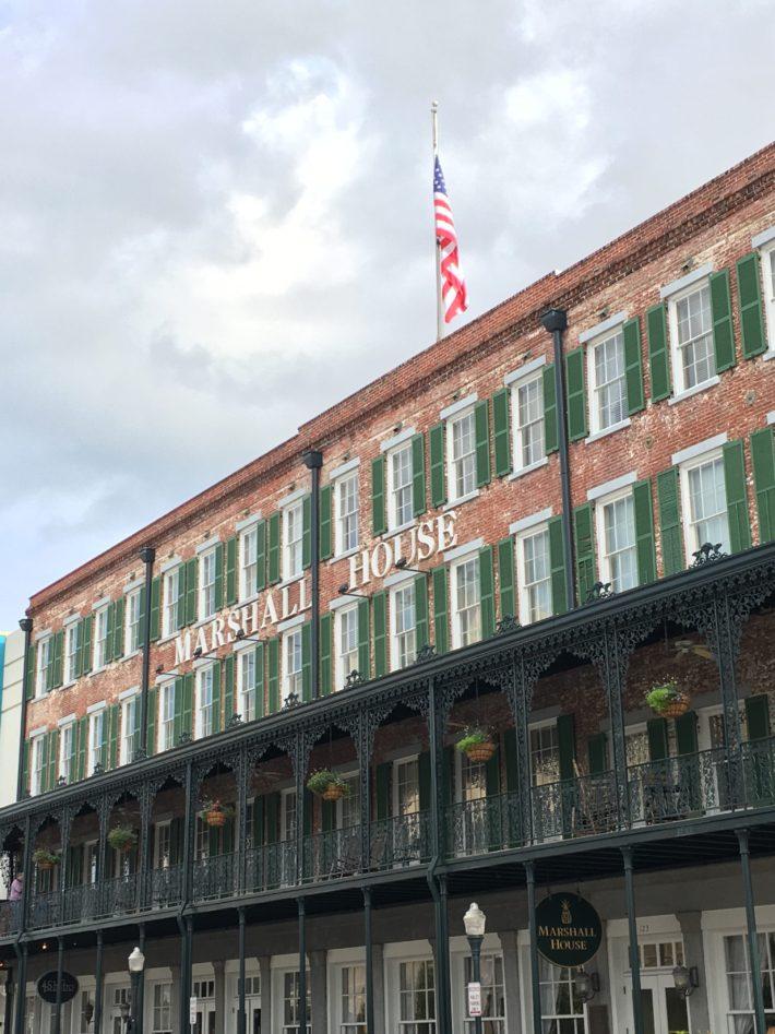 The historic marshall house in downtown savannah travel blog