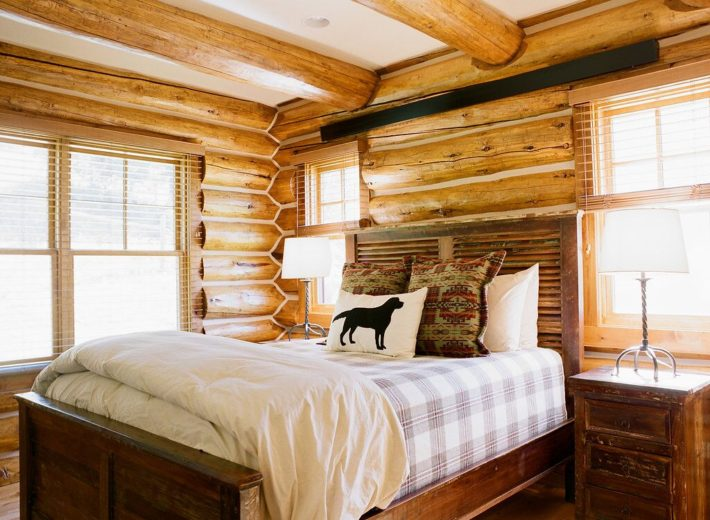 The Chalet rooms of Turpin Meadow Ranch are rustic and elegant