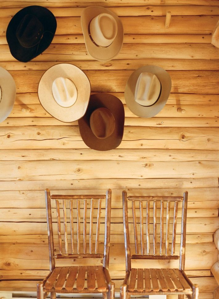 Cowboys hang their hats at the dude ranch, Turpin Meadow Lodge in Grand Teton National Park