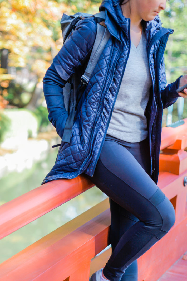 Athleta Rock Springs Jacket on Travel Blogger in Koyasan Japan