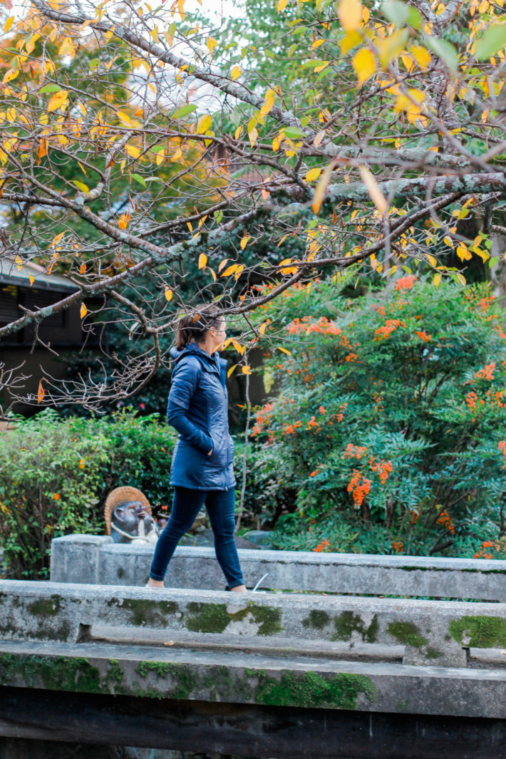 Athleta Rock Springs Jacket on travel blogger in Kyoto, Japan