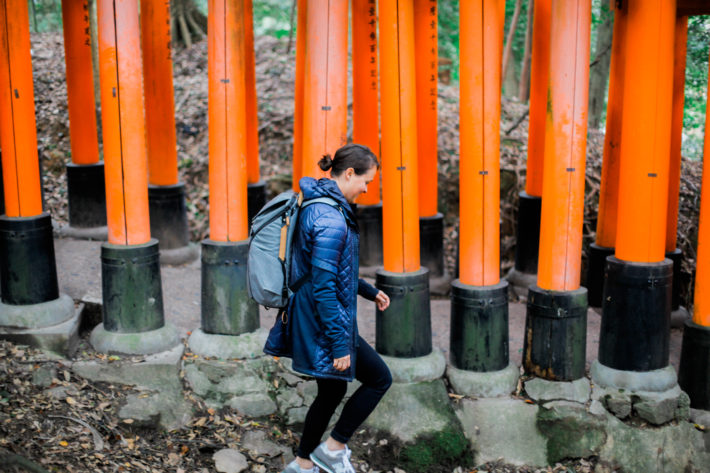 Travel Blogger rocks the Athleta Rock Springs Jacket in Kyoto, Japan. The perfect jacket for traveling the world