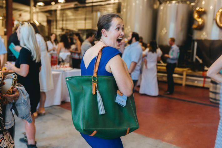 Jackson Hole Blogger and Copperdot Leather Handmade Bag