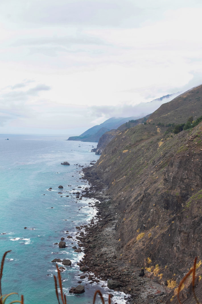 Travel Blogger Driving on Highway 1
