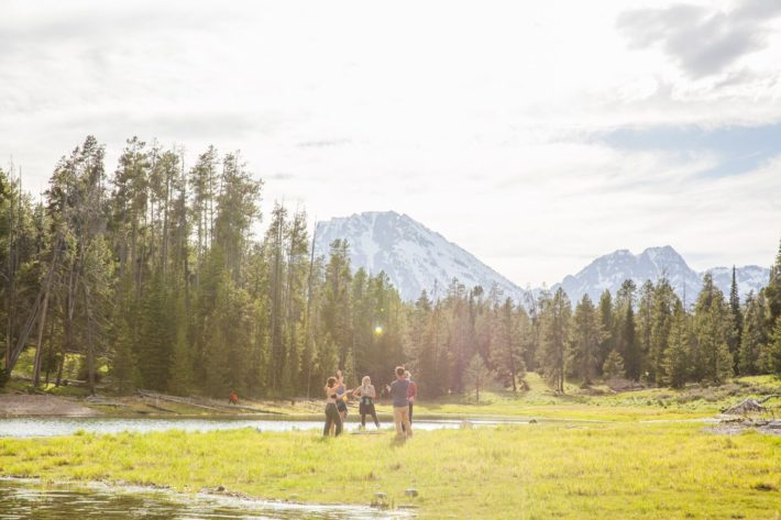 Camping in Grand Teton National Park on Elk Island with Jackson Hole blogger