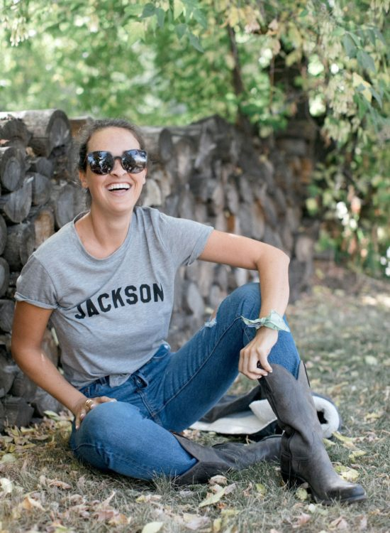 Levi's Cropped Wedgie Jackson Hole Blogger