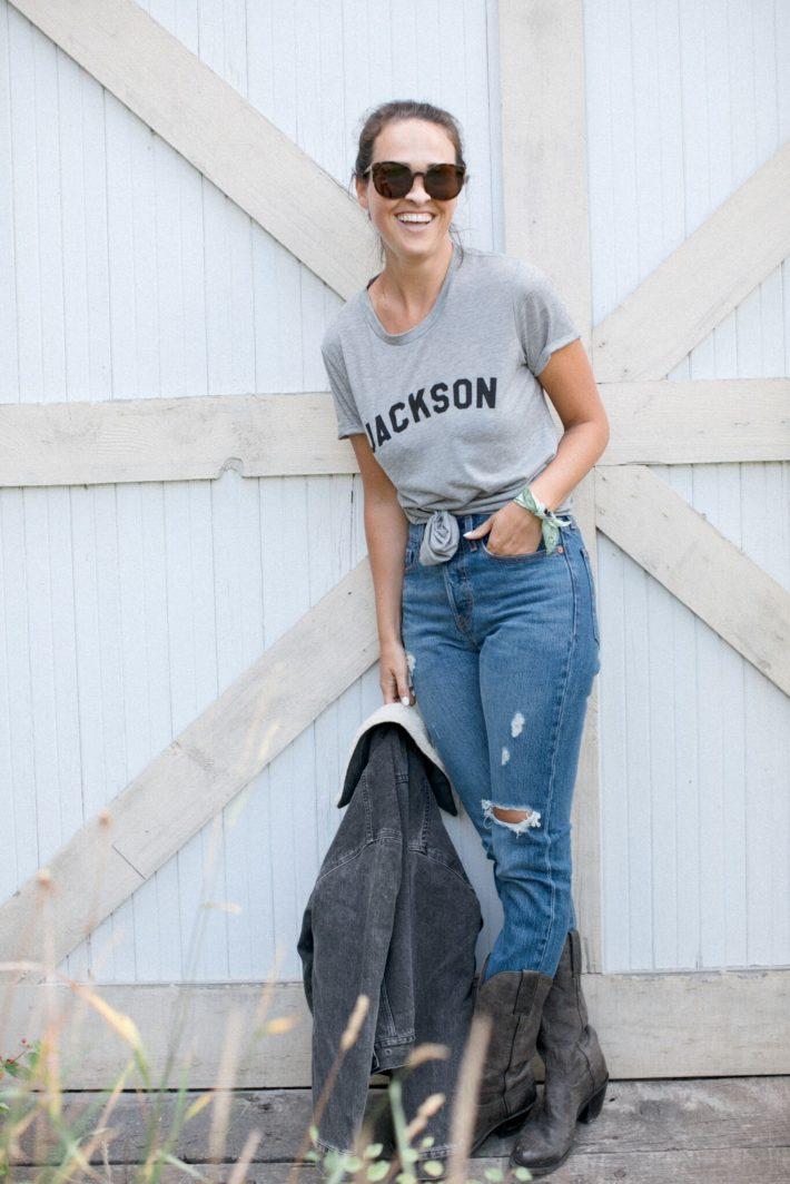Levi's Cropped Wedgie Jackson Hole Blogger