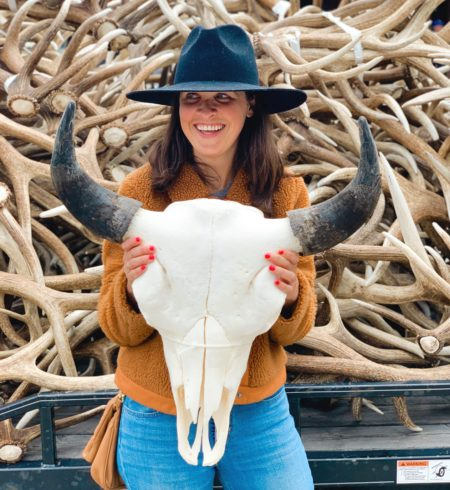 jackson hole blogger at elk antler auction