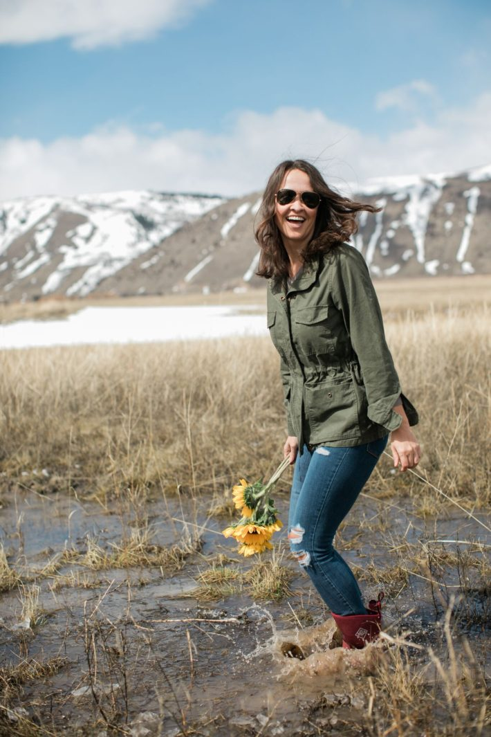 Mountain Blogger wears Muckboots in Wyoming