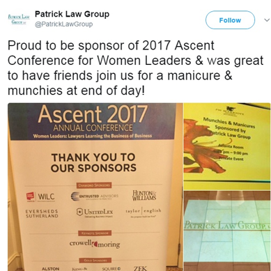 PLG is Proud to Sponsor the 2017 Ascent Conference for Woman Leaders