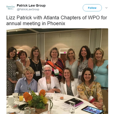 Lizz Patrick with Atlanta Chapters of WPO at the Annual Meeting in Phoenix