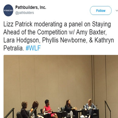 Lizz Patrick, Moderator on Panel at the Women's Leadership Forum Conference