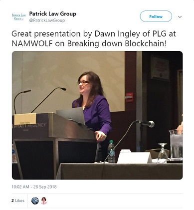 Dawn Ingley Presenting on the Blockchain at NAMWOLF Annual Meeting