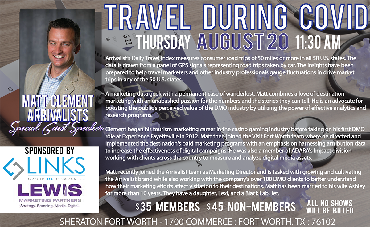 August Meeting & Luncheon Travel During COVID-19 with ARES