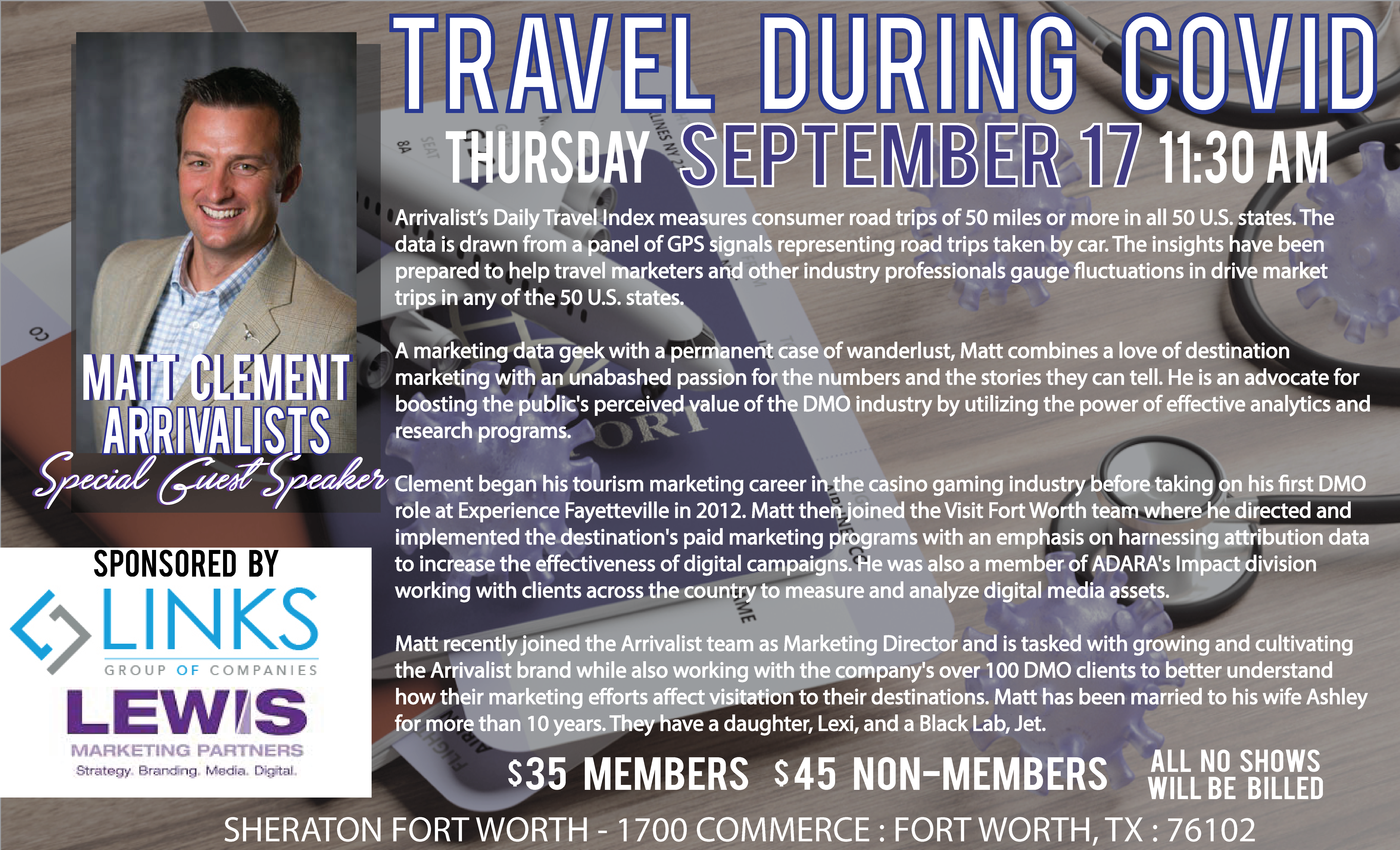 September Meeting & Luncheon Travel During COVID-19 with ARES
