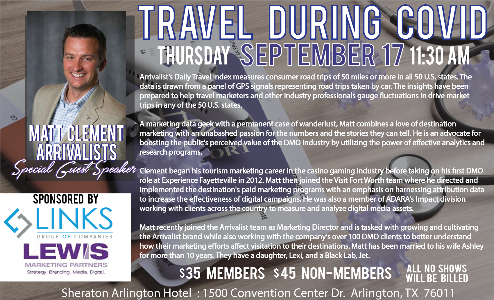 September Meeting & Luncheon Travel During COVID-19 with Arrivalist