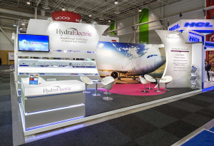 Hydra-Electric booth at 2015 Paris Air Show