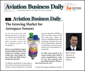 Q&A on Growing Aerospace Sensor Market in Aviation Business Daily