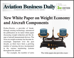 Aviation Business Daily article on Hydra white paper