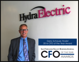 Hydra-Electric's Gerry Schauer Named Finalist for CFO of the Year Awards