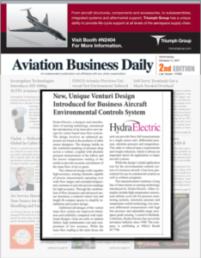 Aviation Business Daily: New, Unique Venturi Design for Business Aircraft